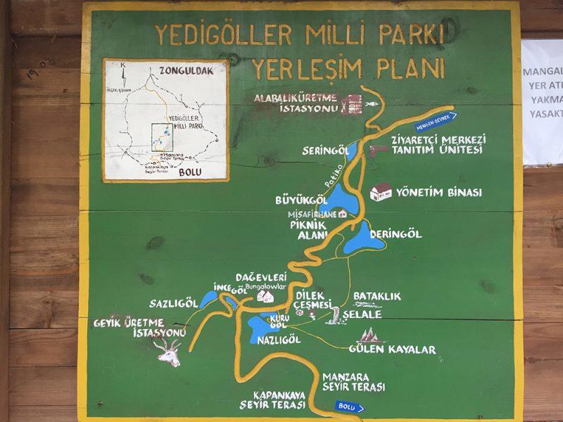 yedigöller harita